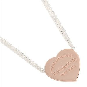 Rose gold return to Tiffany necklace